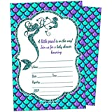 Mermaid Girl Baby Shower Invitation - Fill In Style...