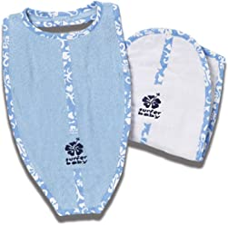 334dad21d68 Surfer Baby Large Surfboard Shaped Baby Bib and Surf board shaped Burp  Cloth Set with Blue