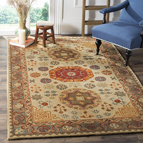 - Safavieh Heritage Collection HG402A Beige and Multi Area Rug (9' x 12')