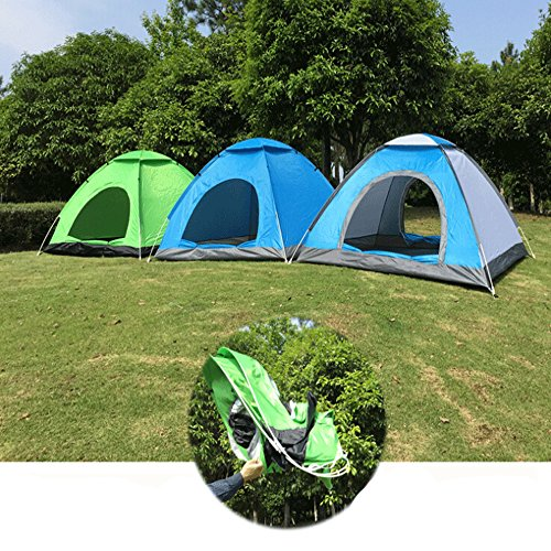 ezyoutdoor 200x200x130cm/79x79x52'' POP UP Tent Pop Up Automatic Instant Setup Fold back Shelter Beach with ANTI-UV Coating for 2-4 person