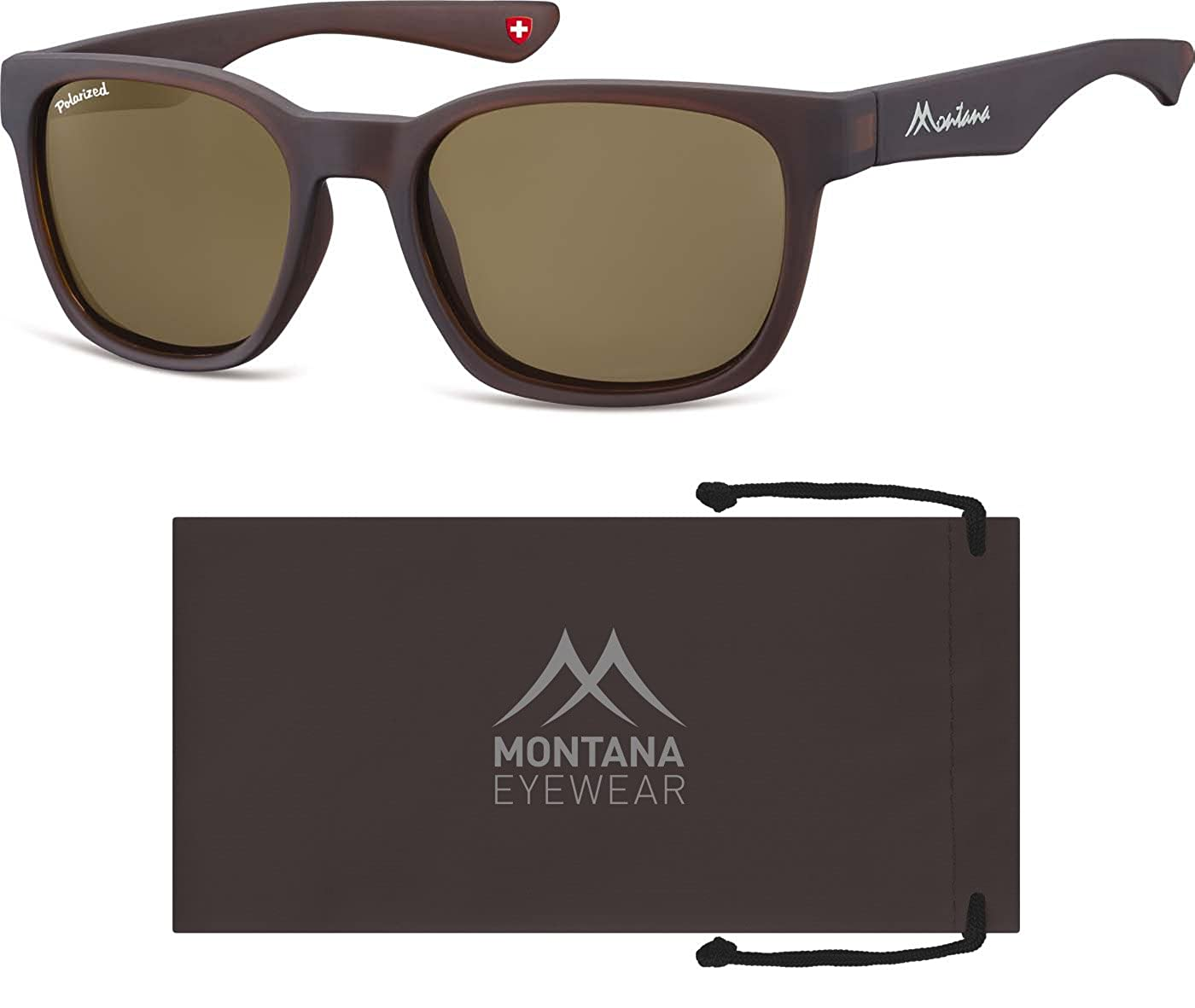 Montana Eyewear Sunoptic MP30B Sonnenbrille in braun, inklusive Stoffbeutel