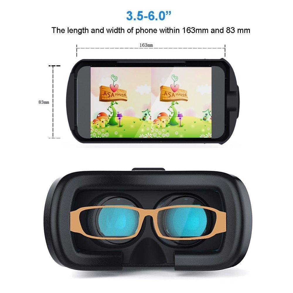 VR Realidad Virtual casco gafas, AODA 3d juegos de vídeo gafas para 3.5