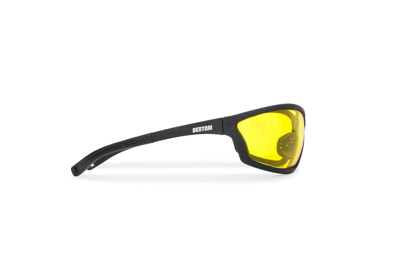 Sportbrille Sehstärke mit Adapter für brillenträger für Radsport Motorrad Ski Golf Lauf Running - by Bertoni Italy AF100 (Grau) - Windschutz für Brillenträger 31Xkj
