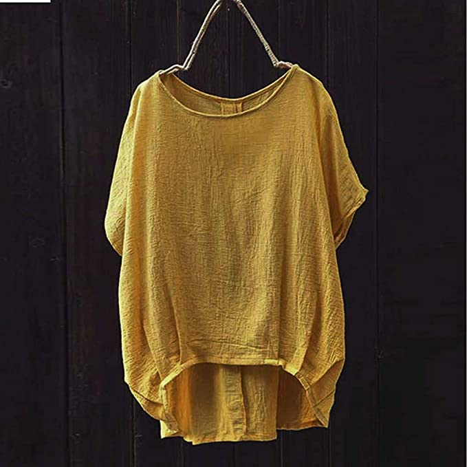 COZOCO Camiseta De Color Liso para Mujer Color Sólido Ocasional ...