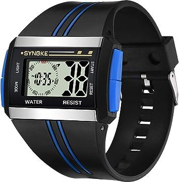 Reloj Digital para Hombres, Cuadrado Deportivo MultifuncióN ...