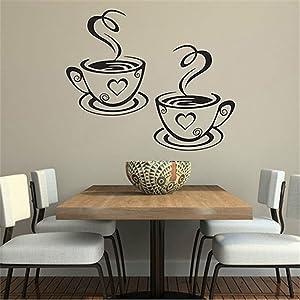 dds5391 Home Kitchen Restaurant Cafe Tea Wall Sticker Coffee Cups Sticker Wall Decor