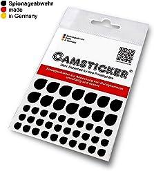 SPIONAGEABWEHR - 44 Stk. CAMSTICKER® - Ø6mm & Ø10mm - KOMBI-SET - schwarz MATT