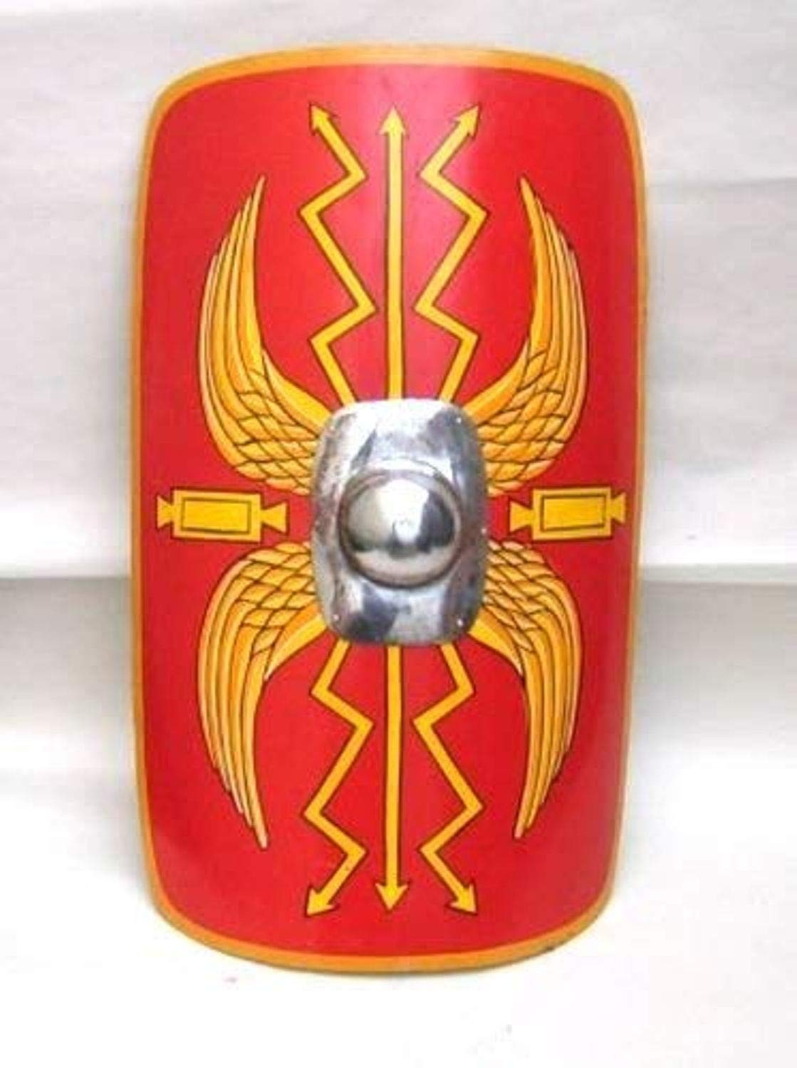 THORINSTRUMENTS (with device) Fully Fucntional 35'' Medieval Roman Armour Legion Scutum Shield SCA LARP Costume