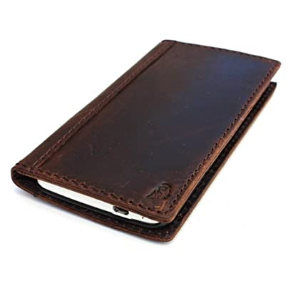 new products 7cc7f a0d45 Genuine Full Leather Case for Htc One M7 Book Wallet Handmade Id