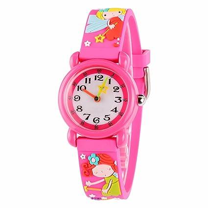 Venhoo Kids Watches 3D Cute Cartoon Waterproof Sport Silicone Children Toddler Wrist Watches Time Teacher Gift