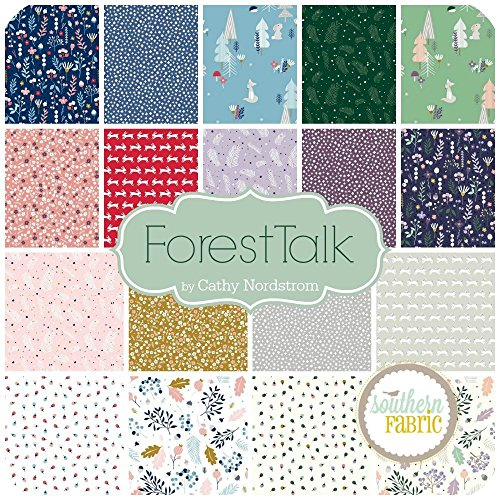 Review Forest Talk Scrap Bag (approx 2 yards) by Kathy Nordstrom – Andover DIY quilt fabric