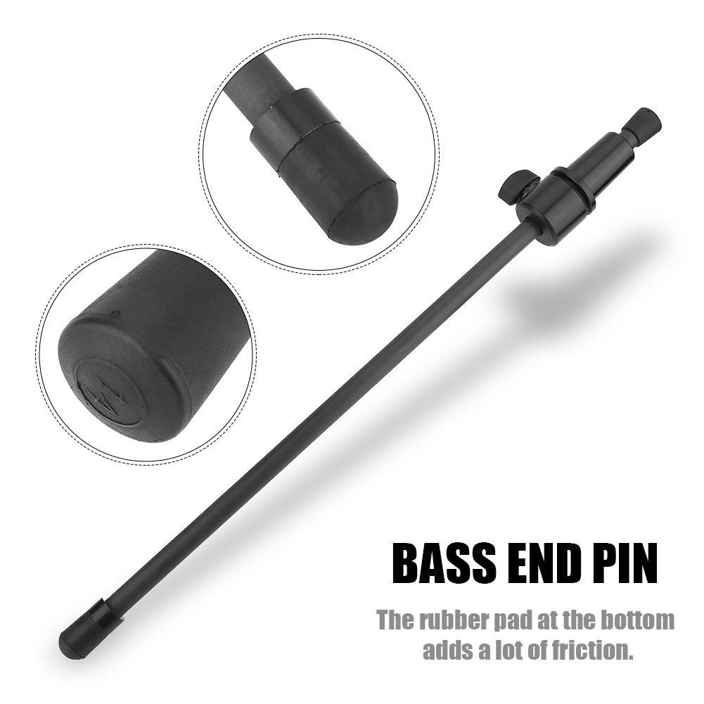 Black Carbon Fiber Double Bass Endpin 3/4 4/4 Parts Accessories Vbestlife Vbestlife4vs9danwrx