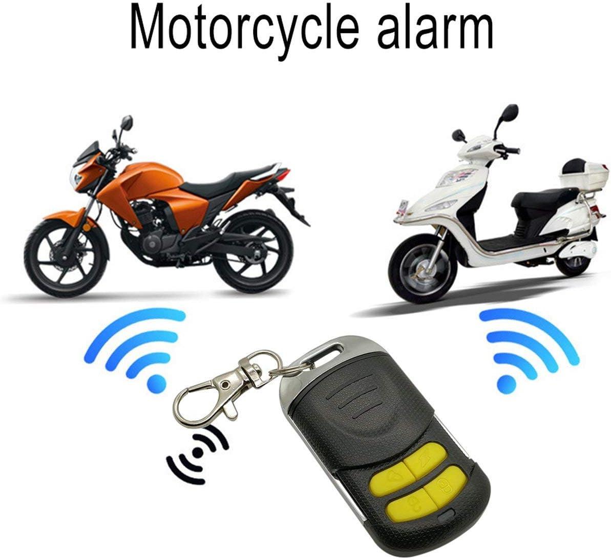 Noir JIUY Universial Double contr/ôle /à Distance Syst/ème de s/écurit/é Moto Alarme Moto antivol Protection v/élo Scooter Syst/ème