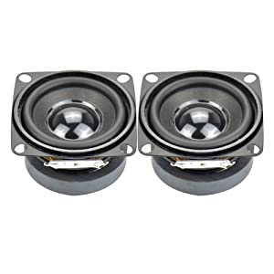 Aiyima 2pcs Subwoofer 2 inch 4ohm 5w Full Range Speaker mini DIY Audio Subwoofer Loudspeaker