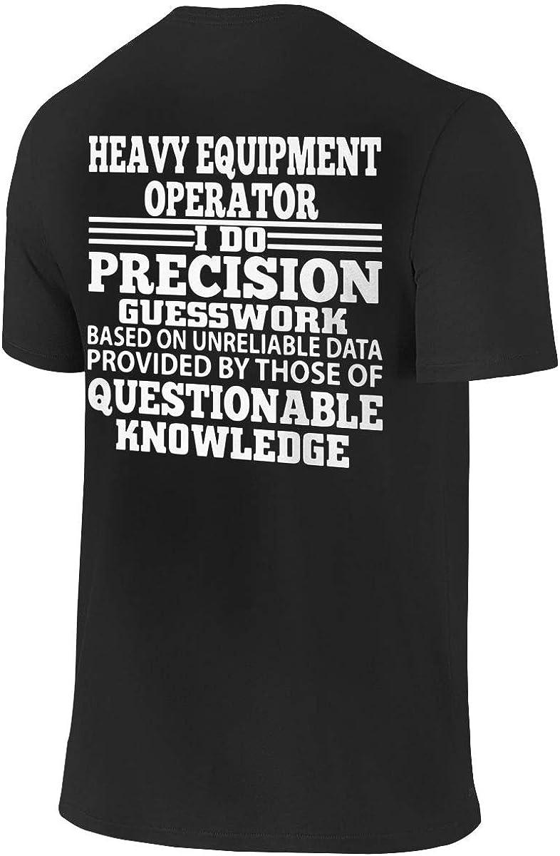 Heavy Equipment Operator Mens Cotton T-Shirt Graphic Short Sleeve