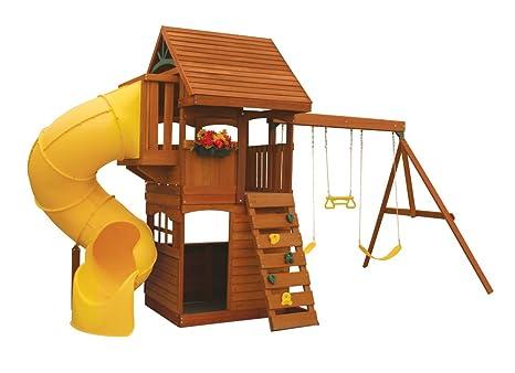 Amazon Com Cedar Summit F24730 Grandview Deluxe Play Set Toys Games