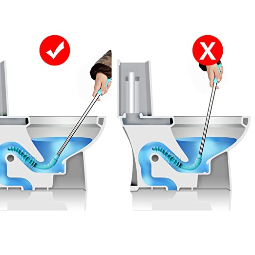 XREXS Toilet émbolo con Pipa limpiada de Gran Alcance del tocador Potente para Inodoro Dragado Herramientas, draga del tocador diseñó para el Tipo del Sifón ...