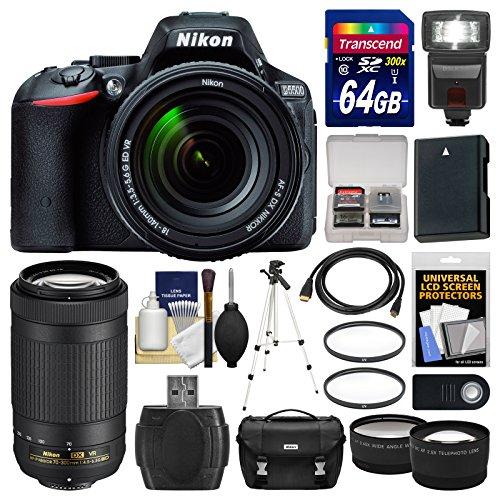 nikon-d5500-wi-fi-digital-slr-camera-18-140mm-vr-dx-af-s-black-with-70-300mm-vr-af-p-lens-64gb-card-