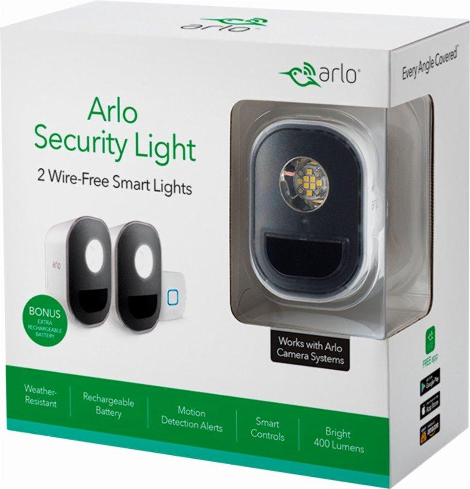 Arlo Smart Home Security Light アルルスマートホームセキュリティライトワイヤフリー、耐候性、モーションセンサー、充電式 2ライト [並行輸入品] B07BF4KDGQ