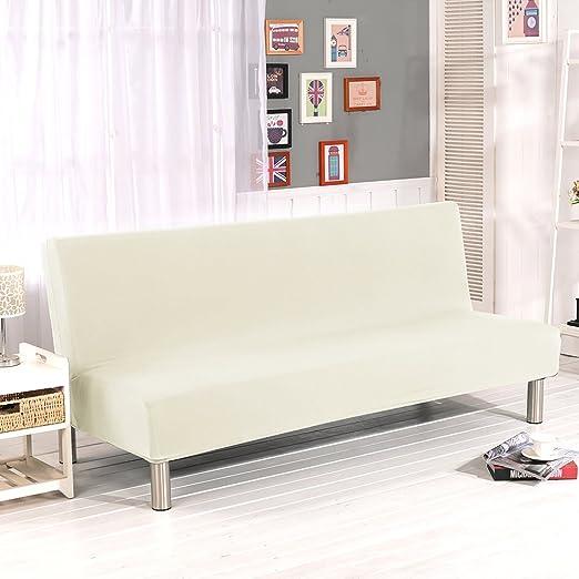 Lembeauty Fundas de sofá de Color sólido sin Brazos, poliéster, Elastano, elásticas, para sofá Cama Plegable sin reposabrazos