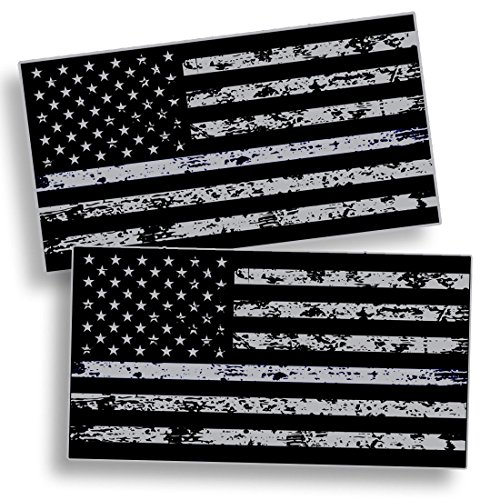 Distressed Black OPS American Flag Sticker Decal Subdued USA Car Truck Grunge US (Vinyl Waterproof Flag Decals)