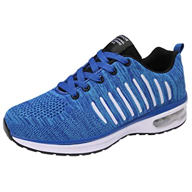 JiaMeng Zapatillas Deporte Hombre Zapatos para Calzados Informales Cojín de Aire Malla Deportiva Zapatillas de Deporte con Punta Redonda Antideslizante y ...