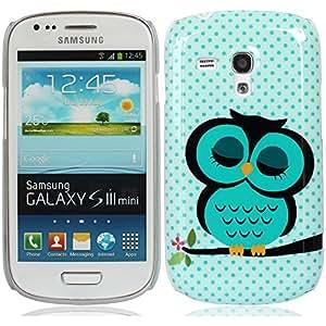 durmiente lindo búho carcasa funda cubierta case cover para Samsung Galaxy S III SIII S3 Mini(no puede caber S3) I8190