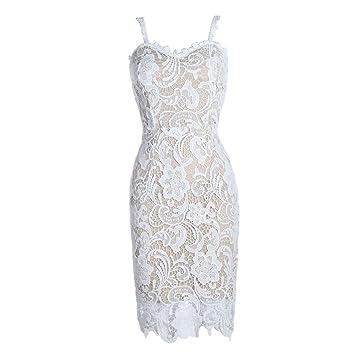 Domybest - Vestido de fiesta para mujer, estilo vintage, con cordón