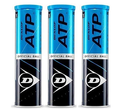 DUNLOP Pelotas Tenis ATP Championship Pack 12 Pelotas (3 x4 ...