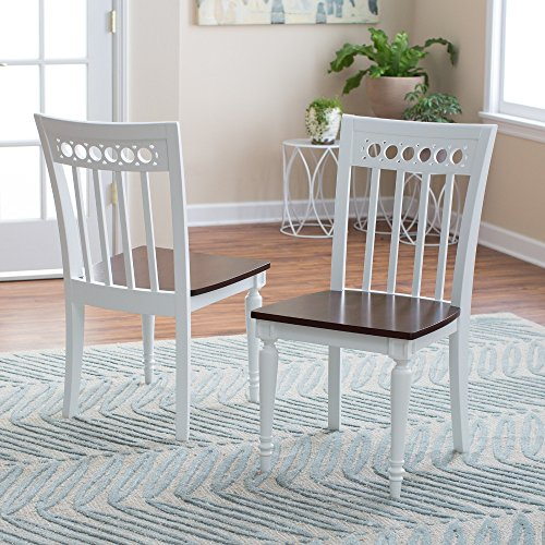 Bistro Dining Chairs (Set of 2) Classic Wood Living Dining Room Table Seat Furniture (Chair Room Classics Dining Garden)