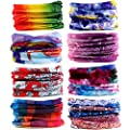 16-in-1 12PCS/8PCS/6PCS Multifunctional Headwear yoga Sports Stretchable Casual Headband Seamless Uv Solid Moisture Neckwarmer Headwrap Mask Bandana Scarf