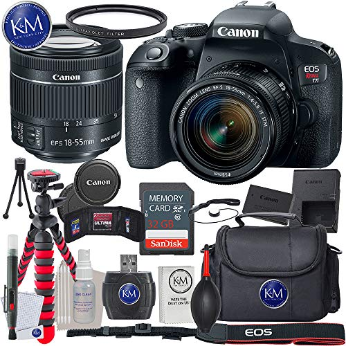 Canon EOS Rebel T7i EF-S 18-55 is STM Kit + 32GB + Essential Photo Bundle Review