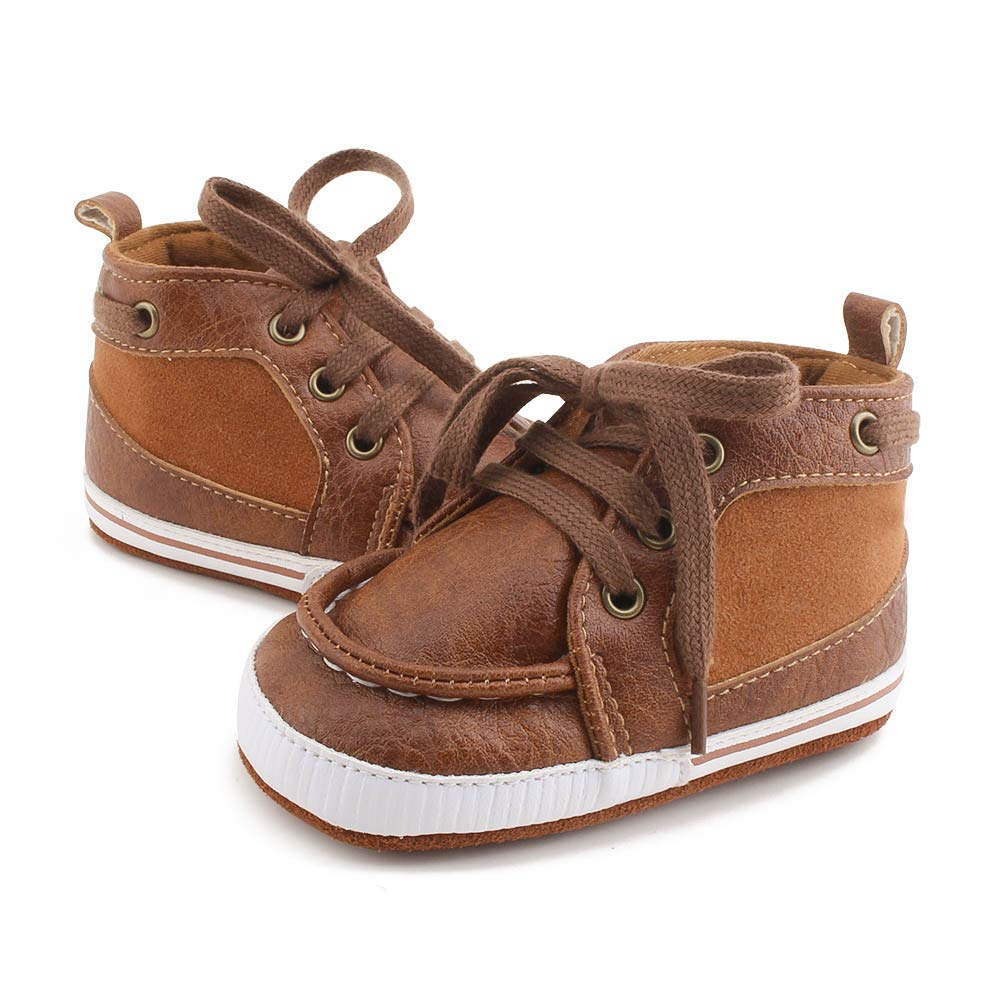 Delebao Baby Boys Girls First Walkers Lace Up Shoes Fashion Sneakers