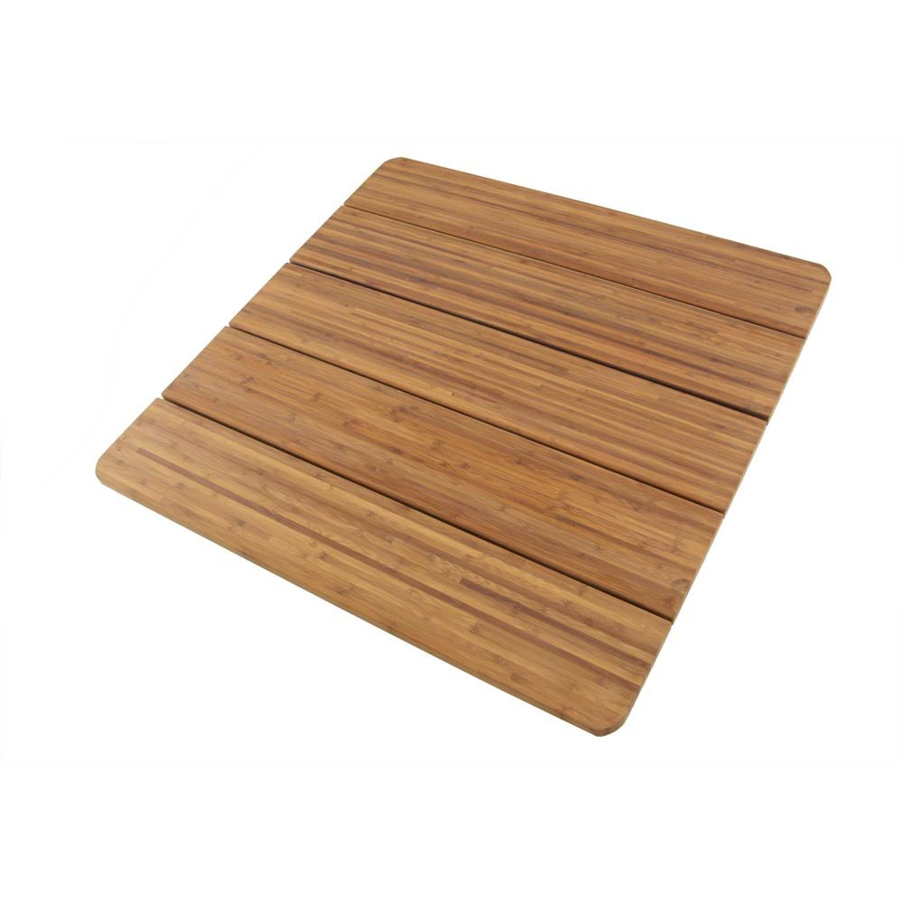 BambooMN Brand - Spa Style Raised Bamboo Bathmat - Extra Large Square - 2 Pieces