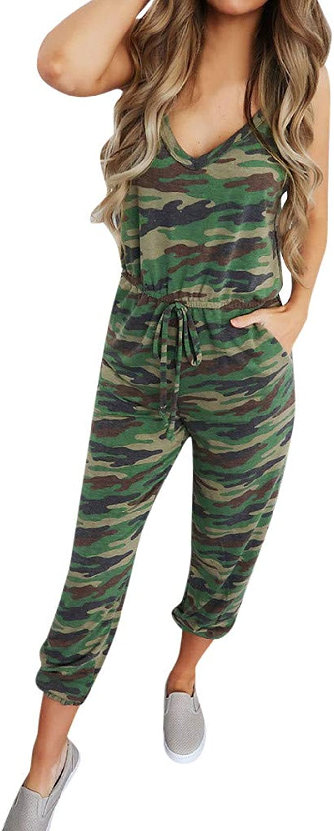 UK Casual Ladies Loose Jumpsuit Womens Evening Party Playsuit Trousers Plus Size