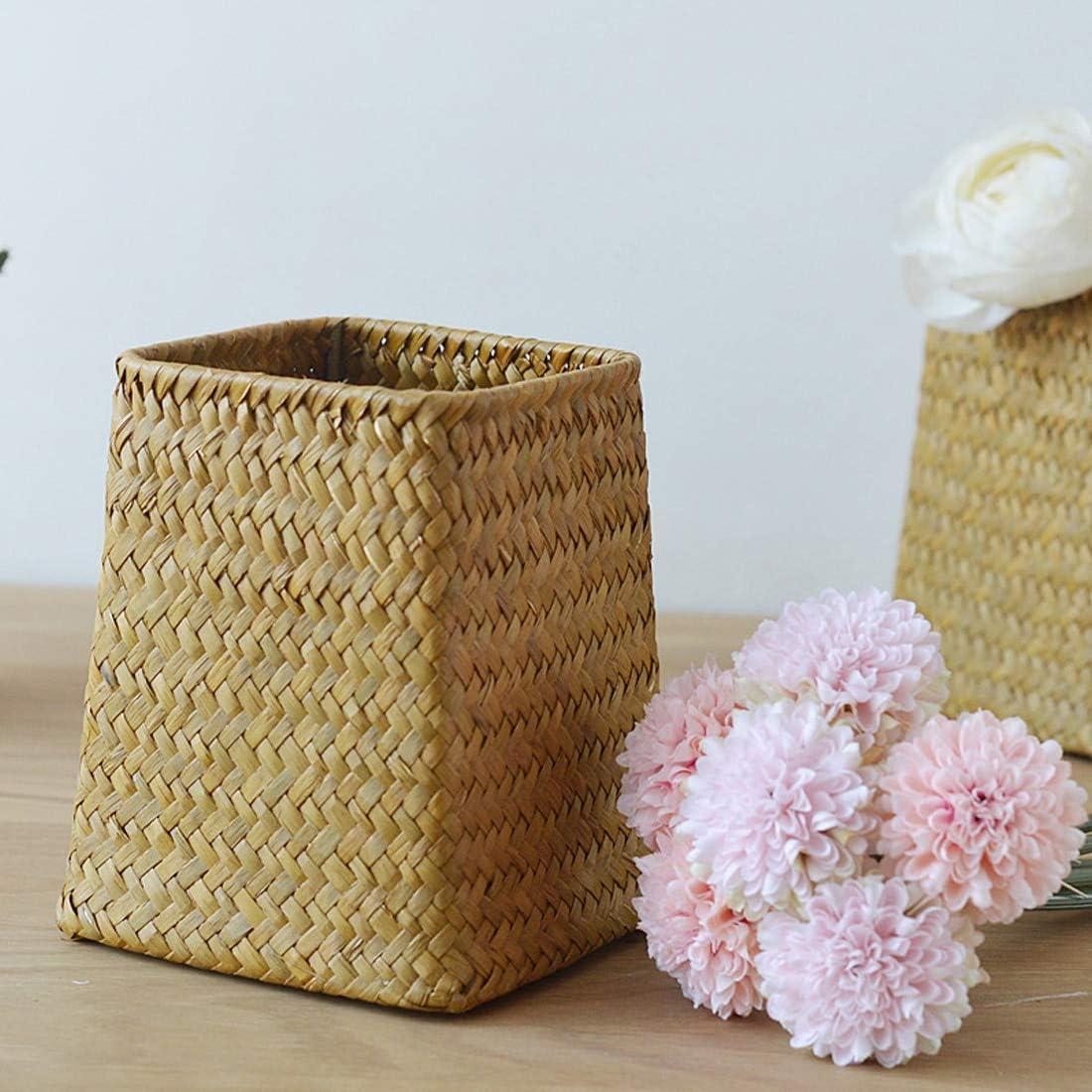 Noyokere Panier en rotin Domestique Paniers en Osier dalgues Panier de Rangement pour Le Linge Sale D/écoration pour la Maison