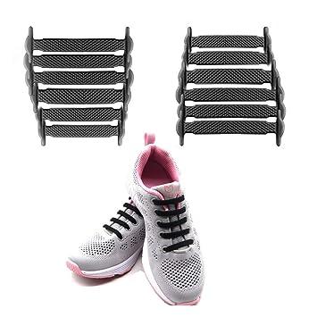 f0489bbccc2166 LattoGe Silicone Elastic No Tie Shoelaces Kids Shoelaces Tieless Shoe Laces  Lace Lock Bands for Kids