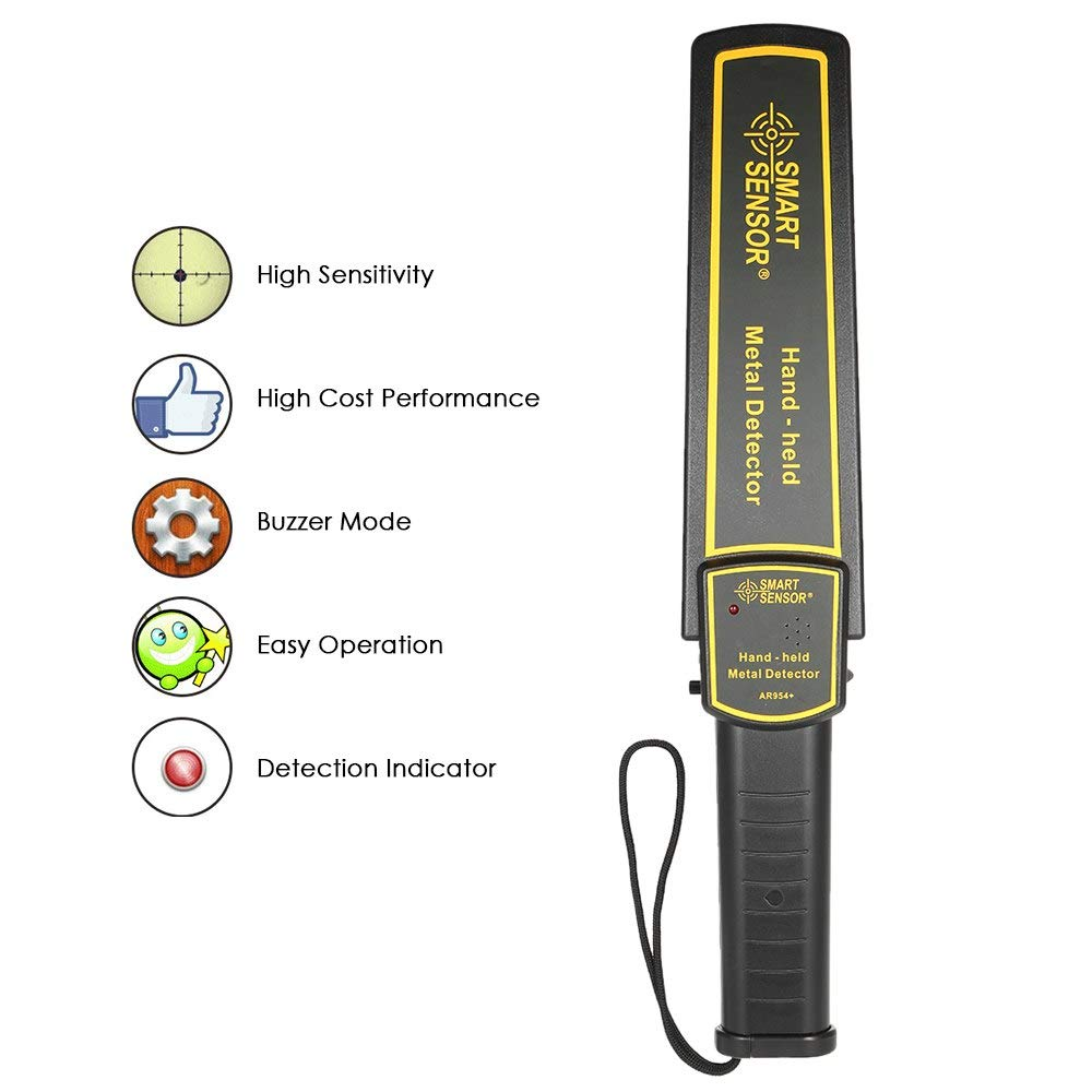 Amazon.com: Value-Home-Tools - High Sensitivity metal detector Security Scanner Scanning Tool metallica detectores + Earphone Buzzer Vibration Automatic ...