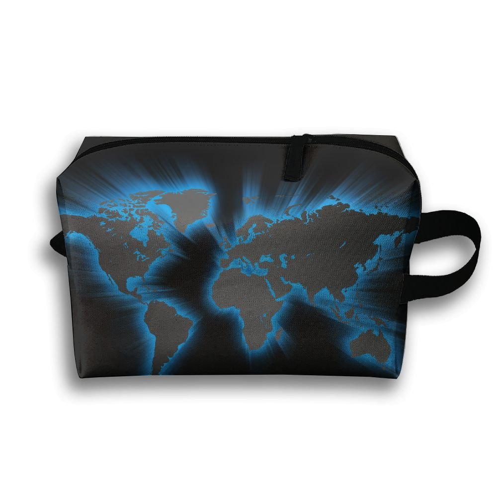 美しいクールマップSmall Travel Toiletry Bagスーパーライト一泊旅行トイレタリーオーガナイザーfor B079NZ8Z29