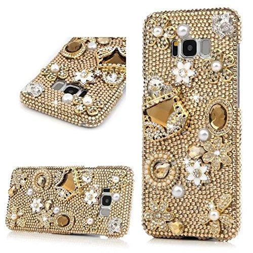 Samsung Galaxy Note 8 Phone Case,Galaxy Note 8 Champagne Handbag Luxury Diamond Bling Glitter Crystal Rhinestone Sparkle Phone Case Cover