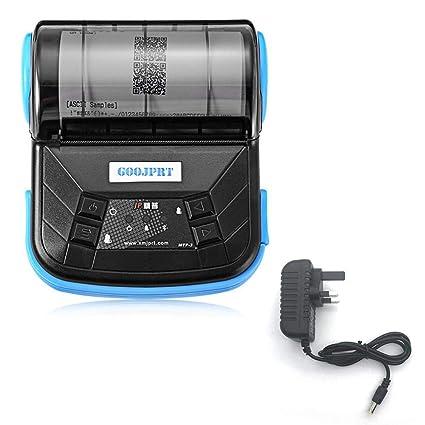 Impresora térmica, 80mm Mini Impresora térmica inalámbrica ...