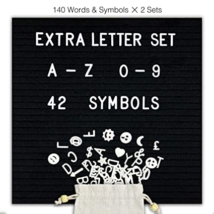 Presentation Boards Office & School Supplies Characters For Felt Letter Board 340 Piece Numbers Symbols Alphabets And Emojis For Letter Board