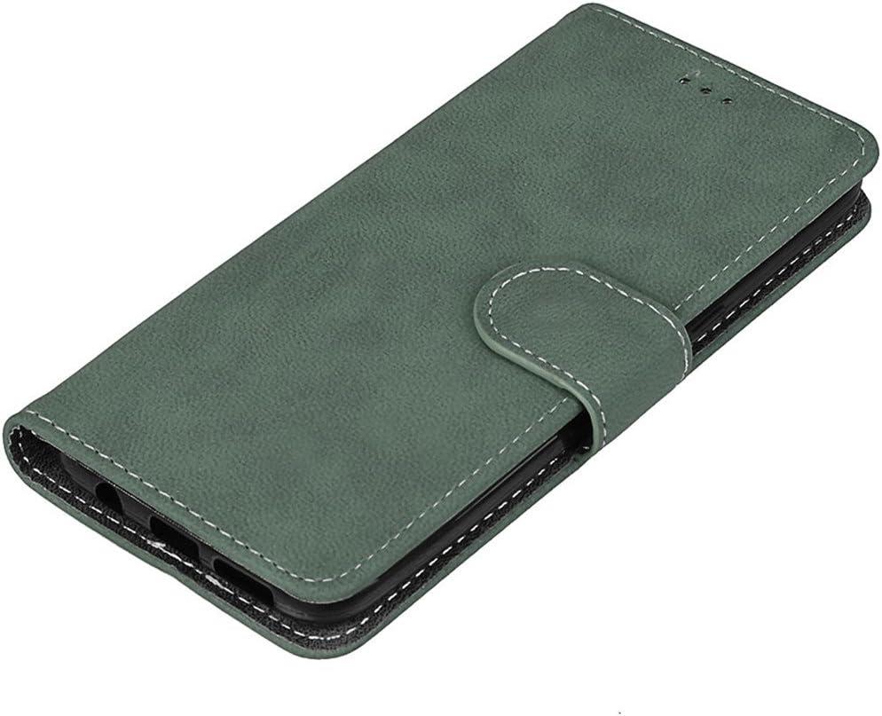 slot portefeuille Hozor Samsung Galaxy S8 Plus // S8+ /étui en cuir bross/é vintage fente pour carte avec fente pour photo boucle magn/étique support pour t/él/éphone mat/ériel en cuir PU de haute qualit/é