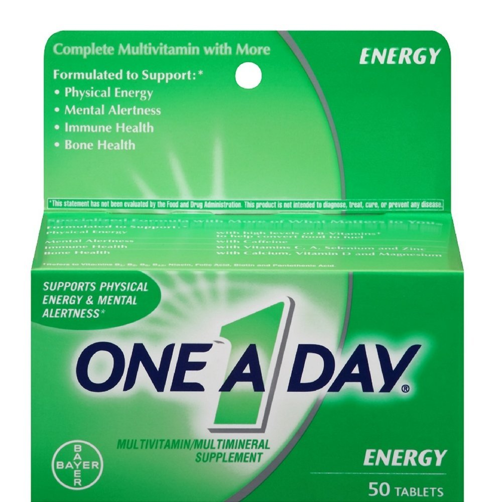 One-A-Day All Day Energy Tablets 50 Tablets Pack of 3