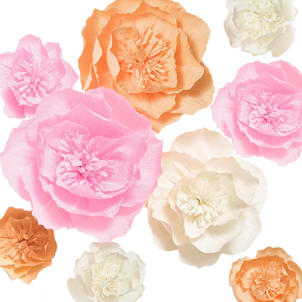 Amazon Lings Moment Paper Flower Decorations 9 X Large Crepe
