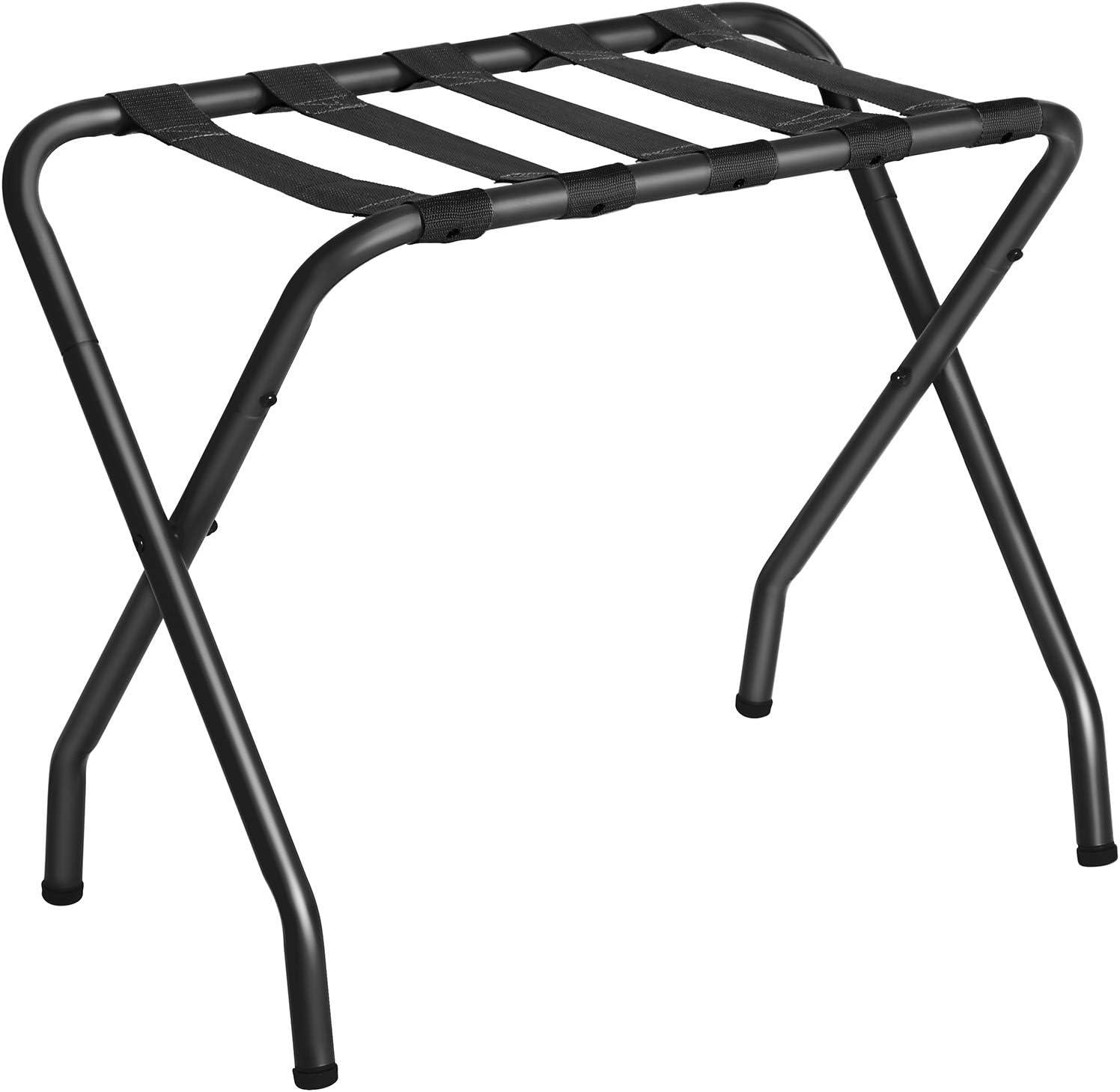 Amazon Com Songmics Metal Folding Luggage Rack Black Urlr64b Home Kitchen