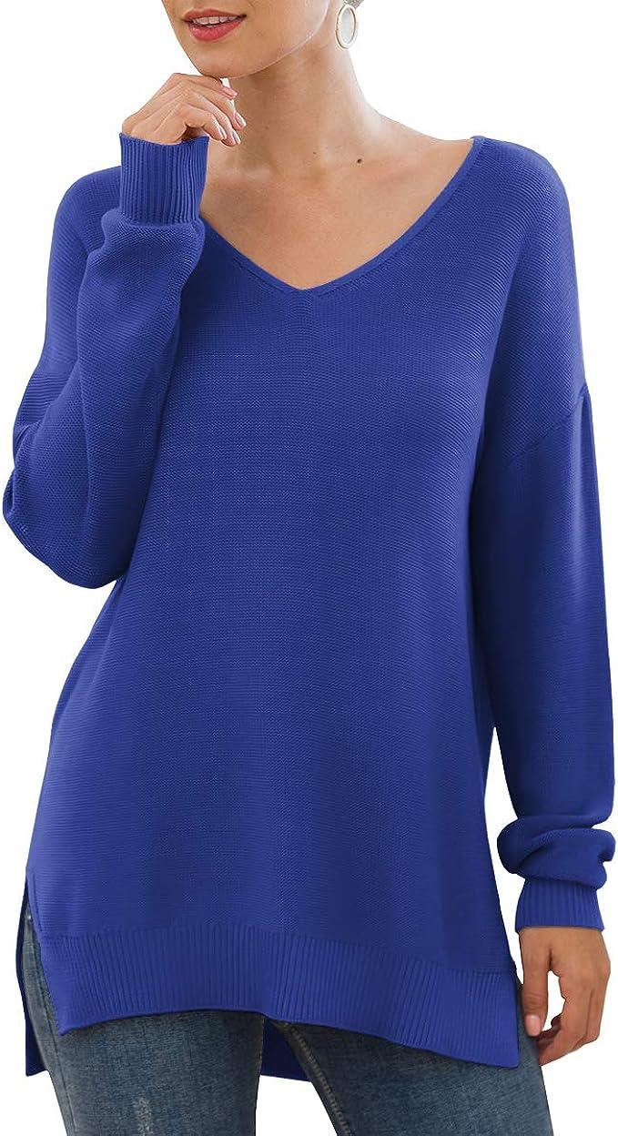 Women/'s Long Sleeve Sweater Jumper Top Ladies Knitted Sweatshirt Pullover Blouse