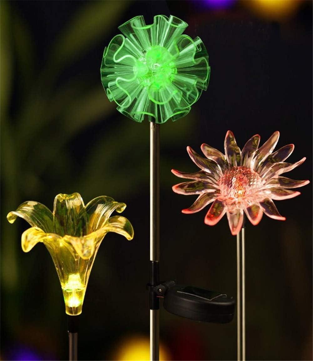 Garden Solar Lights Multi-Color Changing LED Flower Stake Light Decorative Landscape Lawn Yard Outdoor Lights