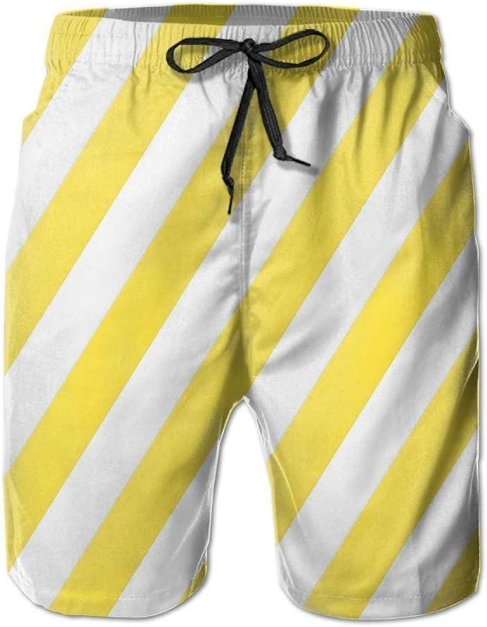 Raya Blanca Amarilla Pantalones de Playa clásicos para Hombre ...