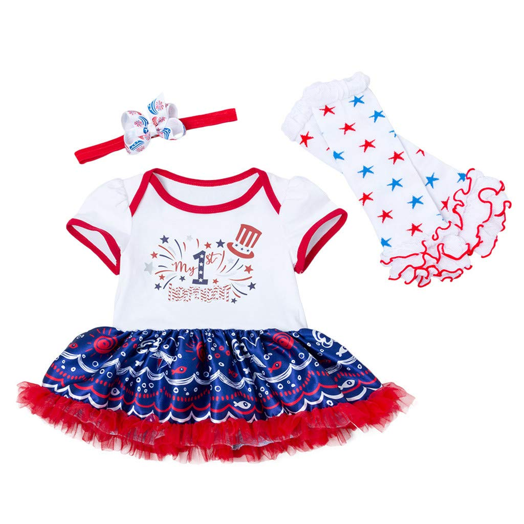 Staron 2019 Summer Baby Girls Dress Playwear Set For 3pcs Newborn Baby Girls Princess American Star Print Tutu Dress Outfits Set Amazon In Sports Fitness Outdoors